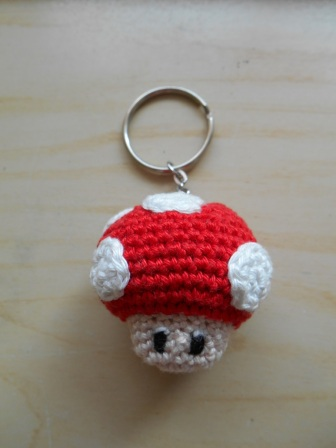 Mushroom Mario sleutelhanger