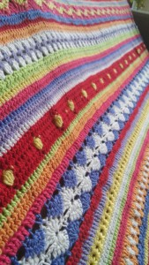 Crochet Along sprei close-up